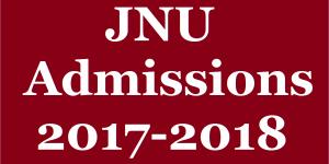 jnu admissions 2017-18